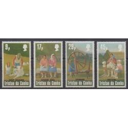 Tristan da Cunha - 1984 - No 358/361 - Artisanat ou métiers