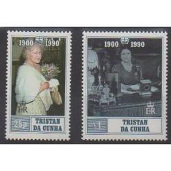 Tristan da Cunha - 1990 - No 473/474 - Royauté - Principauté