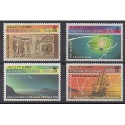 Tristan da Cunha - 1986 - Nb 380/383 - Astronomy