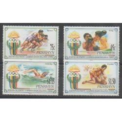 Penrhyn - 1992 - No 376/379 - Jeux Olympiques d'été