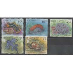 Penrhyn - 1993 - Nb 407/411 - Sea animals