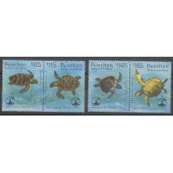 Penrhyn - 1995 - No 427/430 - Reptiles
