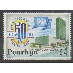 Penrhyn - 1995 - No 426 - Histoire - Nations unies