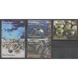 Penrhyn - 2011 - No 474/478 - Animaux marins - Artisanat ou métiers