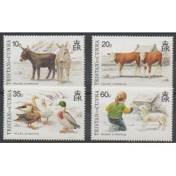 Tristan da Cunha - 1994 - Nb 544/547 - Animals