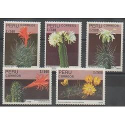 Pérou - 1989 - No 908/912 - Fleurs