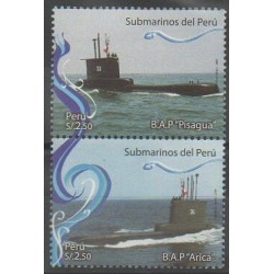 Peru - 2009 - Nb 1815/1816 - Boats