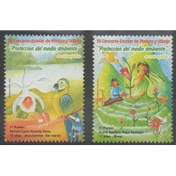 Pérou - 2009 - No 1843/1844 - Dessins d'enfants - Environnement