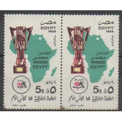 Égypte - 1986 - No 1309/1310 - Football