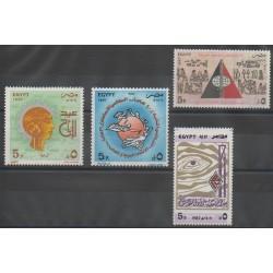 Égypte - 1987 - No 1343/1346