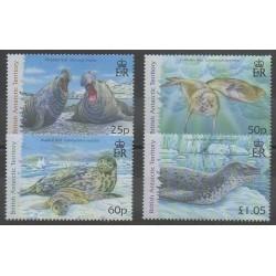 Grande-Bretagne - Territoire antarctique - 2006 - No 443/446 - Mammifères - Animaux marins