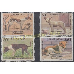 Burkina Faso - 1989 - No 807/810 - Chiens