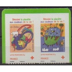 France - Autoadhésifs - 2008 - No 237/238 - Dessins d'enfants - Santé ou Croix-Rouge