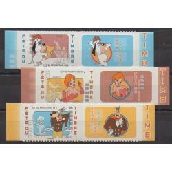 France - Self-adhesive - 2008 - Nb 160A/162A - Cartoons - Comics