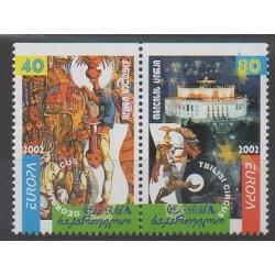 Géorgie - 2002 - No 299a/300a - Cirque - Europa