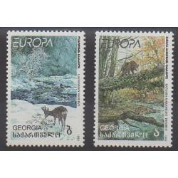 Géorgie - 1999 - No 223/224 - Mammifères - Europa