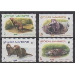 Géorgie - 1999 - No 234/237 - Mammifères - Espèces menacées - WWF