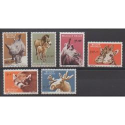 Belgique - 1961 - No 1182/1187 - Mammifères