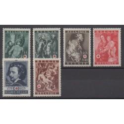 Belgique - 1944 - No 647/652 - Santé ou Croix-Rouge - Religion