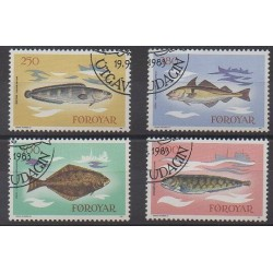 Faroe (Islands) - 1983 - Nb 80/83 - Sea animals - Used