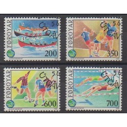 Faroe (Islands) - 1989 - Nb 180/183 - Various sports - Used