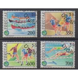 Féroé (Iles) - 1989 - No 180/183 - Sports divers - Oblitérés