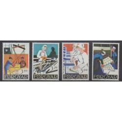 Féroé (Iles) - 1990 - No 188/191 - Artisanat ou métiers