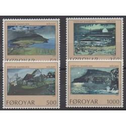 Faroe (Islands) - 1990 - Nb 201/204 - Paintings