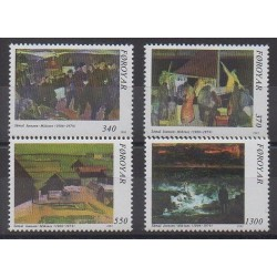 Faroe (Islands) - 1991 - Nb 217/220 - Paintings