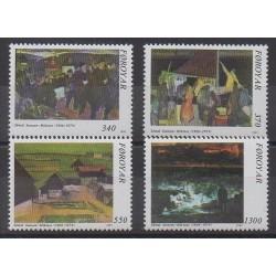 Féroé (Iles) - 1991 - No 217/220 - Peinture