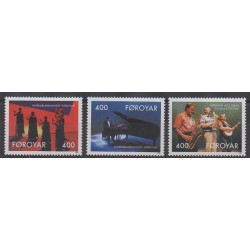 Faroe (Islands) - 1993 - Nb 237/239 - Music