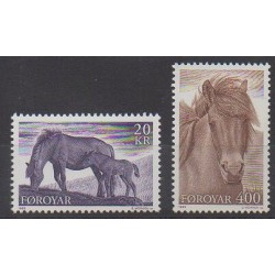 Faroe (Islands) - 1993 - Nb 244/245 - Horses