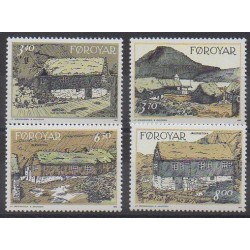 Faroe (Islands) - 1992 - Nb 233/236 - Monuments