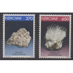 Féroé (Iles) - 1992 - No 229/230 - Minéraux - Pierres précieuses