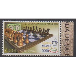 Moldavie - 2006 - No 476 - Échecs