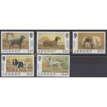 Jersey - 1988 - No 424/428 - Chiens