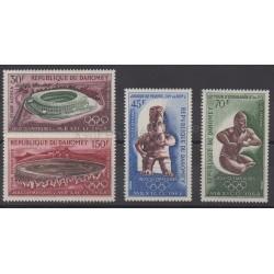 Dahomey - 1968 - No PA89/PA92 - Jeux olympiques d'été