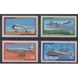 West Germany (FRG - Berlin) - 1980 - Nb 578/581 - Planes - Helicopters