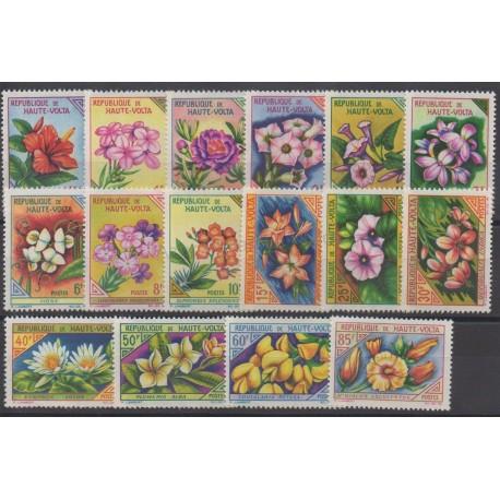 Upper Volta - 1963 - Nb 113/128 - Flowers