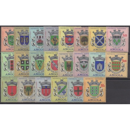Angola - 1963 - No 468/489 - armoiries