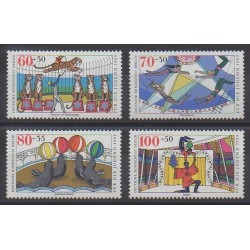 West Germany (FRG - Berlin) - 1989 - Nb 799/802 - Circus