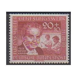 Allemagne occidentale (RFA - Berlin) - 1957 - No 158 - Célébrités