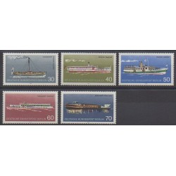 West Germany (FRG - Berlin) - 1975 - Nb 447/451 - Boats