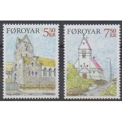 Féroé (Iles) - 2004 - No 507/508 - Églises - Noël