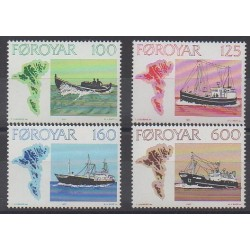Faroe (Islands) - 1977 - Nb 18/21 - Boats