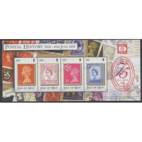 Man (Isle of) - 2001 - Nb BF47 - Stamps on stamps