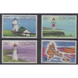 Faroe (Islands) - 1985 - Nb 115/118 - Lighthouses