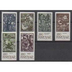 Féroé (Iles) - 1984 - No 100/105 - Littérature