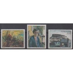 Faroe (Islands) - 1985 - Nb 112/114 - Paintings