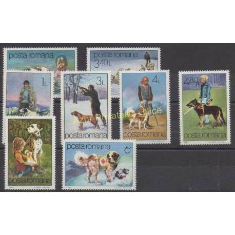 Roumanie - 1982 - No 3374/3381 - Chiens